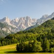 View to the Julian Alps - Stock Photo