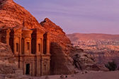 Ad Deir at sunset — Stock Photo