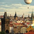 Prague oldtown with balloon - Stock Photo