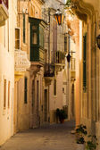 Empty lane in a maltese town — Stock Photo
