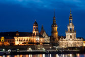Dresden at sunset — Stock Photo