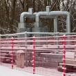 Community heating pipeline in Winter — Stock Photo