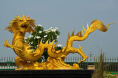 中国の龍の像 — ストック写真