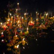 Stock Photo: Loy Krathong Boats