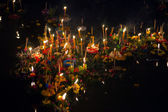 Loy Krathong Boats — Stock Photo