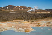 Leirhnjukur crater and Krafla Volcano — Stock Photo