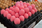 Red-colored eggs for sale — Стоковое фото