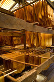 Storage of raw rubber plates — Stock Photo
