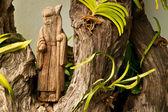 Estátua de madeira chinesa — Fotografia Stock