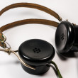 Vintage headphones — Stock Photo