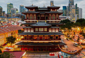 The Buddha Tooth Relic Temple — Stock Photo