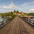 Stock Photo: The Mon Bridge in Songkhla Buri