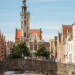 Jan van Eyckplein Square in Bruges — Stock Photo