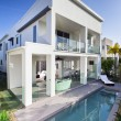 Stock Photo: Modern house with pool