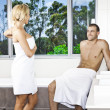 Young couple in bathroom — Stock Photo #19838269