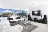 Sala de estar y balcón — Foto de Stock