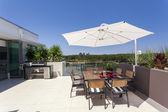Penthouse balcony — Stock Photo
