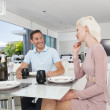 Young couple dining — Stock Photo