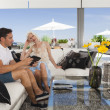Couple in living room — Stock Photo #23402146