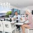 Stockfoto: Young couple dining