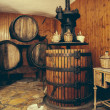 Vintage Wooden Wine Press — Stock Photo
