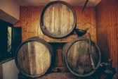 Vintage Wooden Wine barrels — Stock Photo