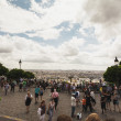Busy tourist destination in Paris — Stock Photo