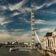 Stock Photo: London Eye over River Thames