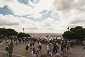 Busy tourist destination in Paris — Stock Photo