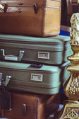 Stack of vintage suitcases — Stock Photo