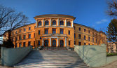 Panorama of Negruzzi High school from Iasi, Romania — Stock Photo