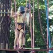 Kids in adventure park — Stock Photo