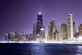 Chicago Downtown in the night — Stock Photo