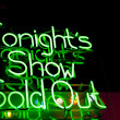 Tonight's Show Sold Out Neon — Stock Photo