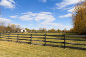 Wooden Fence on American Countryside — Stock Photo