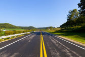 Countryside Road With Blue Sky — Stockfoto