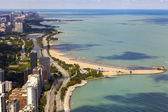 Chicago Lake Shore Drive Aerial View — Stock Photo