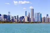 Downtown Chicago With Blue Sky — Stock Photo