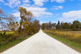 Countryside Road In Sunny September — Stock Photo