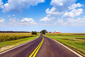 Countryside Road With Blue Sky — Stock Photo