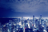 Night View On Chicago Skyline — Stock Photo