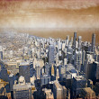 Chicago Downtown Vintage Design (Aerial View) — Stock Photo