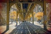 Effetto foto d'epoca - chicago — Foto Stock