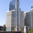 CHICAGO, ILLINOIS - SEP15: The Wrigley Building in Chicago, a skyscraper was built to house the corporate headquarters of the Wrigley Company, on September 15, 2012 in Chicago, Illinois, USA. - Stock fotografie