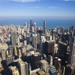 Chicago Downtown (Aerial View) — Stock Photo