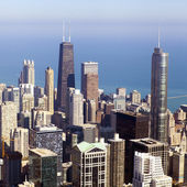 Aerial View on Chicago Downtown — Stock Photo