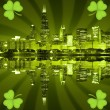 St patrick's day city background — Stock Photo