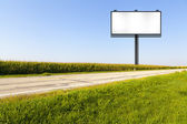 Big Metal Advertising Billboard Sign — Stock Photo