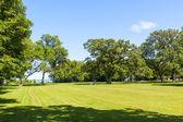 Terreno agricolo americano con cielo blu — Foto Stock