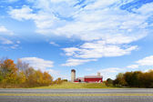 American Countryside Red Barn — Stock Photo
